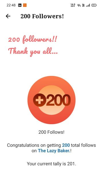 200 followers!! Thank you all...